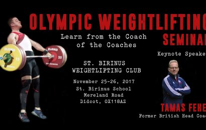 Olympic Weightifting Seminar with Tamas Feher